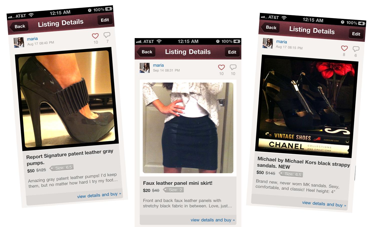 second hand kleidung per smartphone app fashion forward fashion lifestyle forum. Black Bedroom Furniture Sets. Home Design Ideas