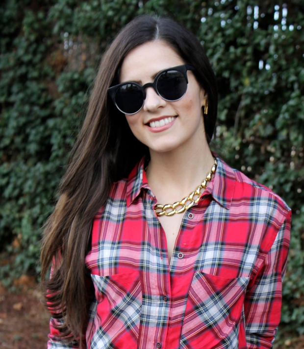Leather, Plaid, Gold